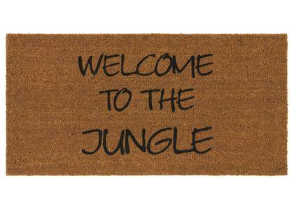 Welcome to the Jungle Doormat Natural