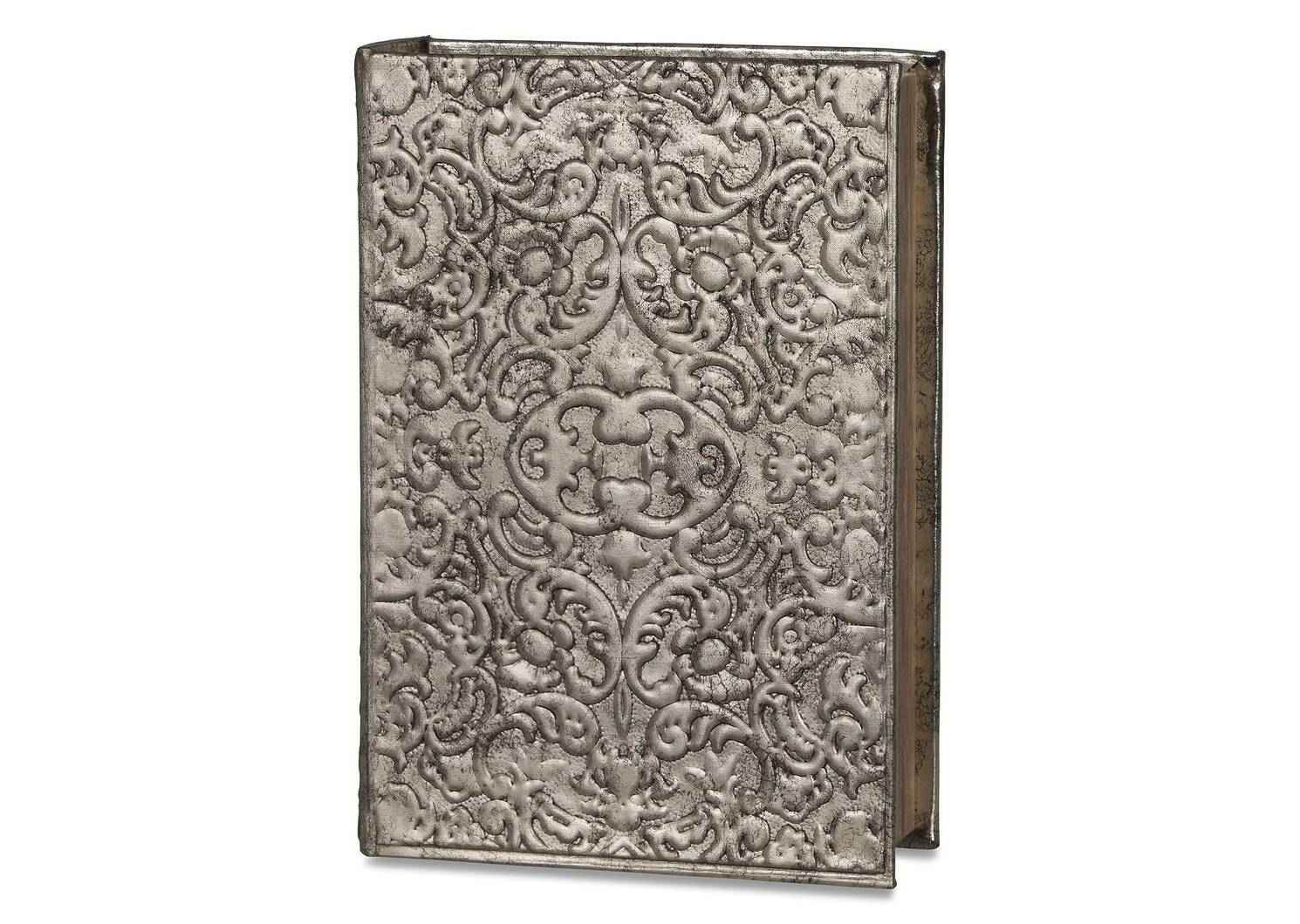 Charmant Book Box Large Pewter