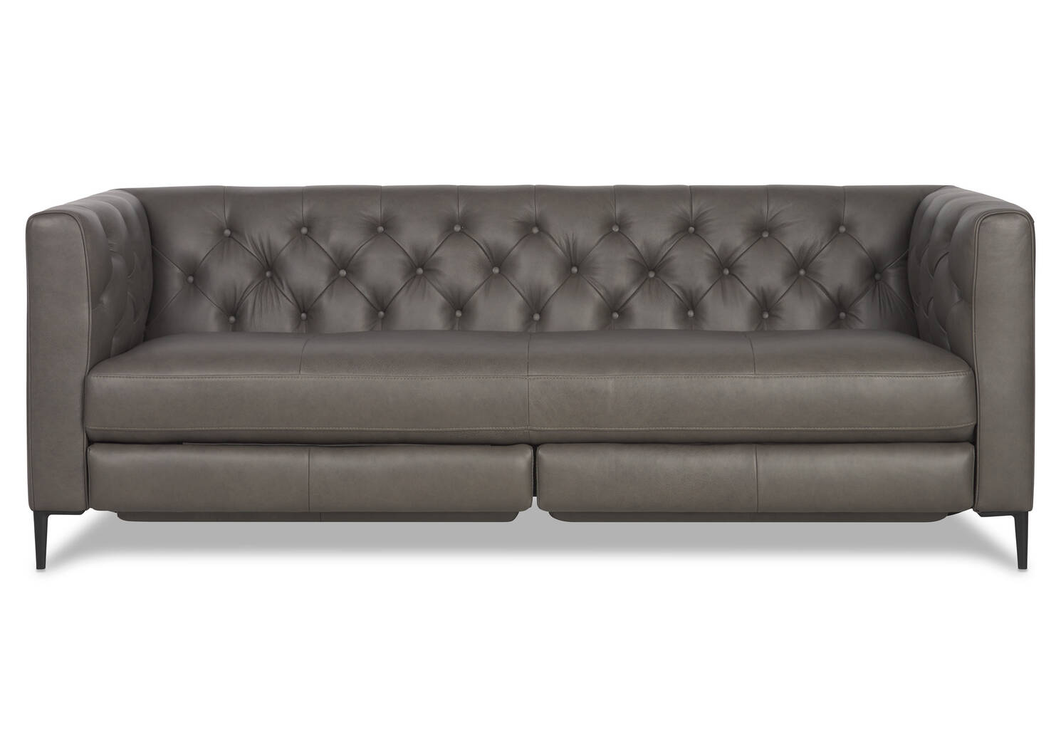 Mckay Leather Relaxer Sofa -Ashby Stone