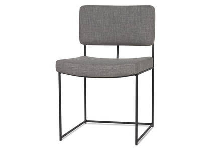 Harvey Dining Chair -Uno Pewter 32""