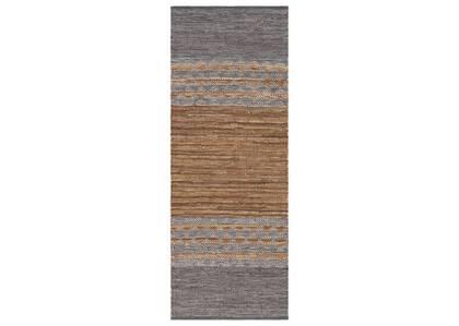 Tapis couloir Ramya 30x84 gris/brun cl