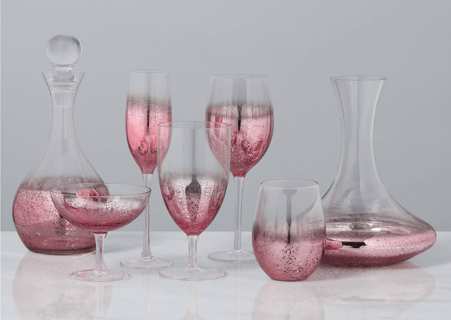 Shimmer Glassware - Rose Gold