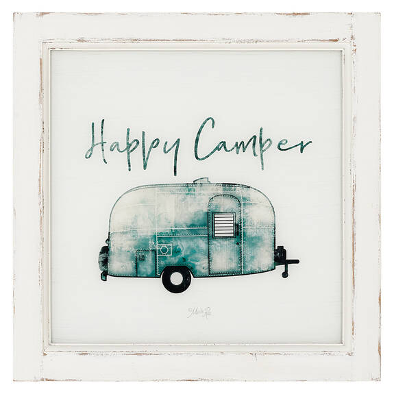 Happy Camper Wall Plaque