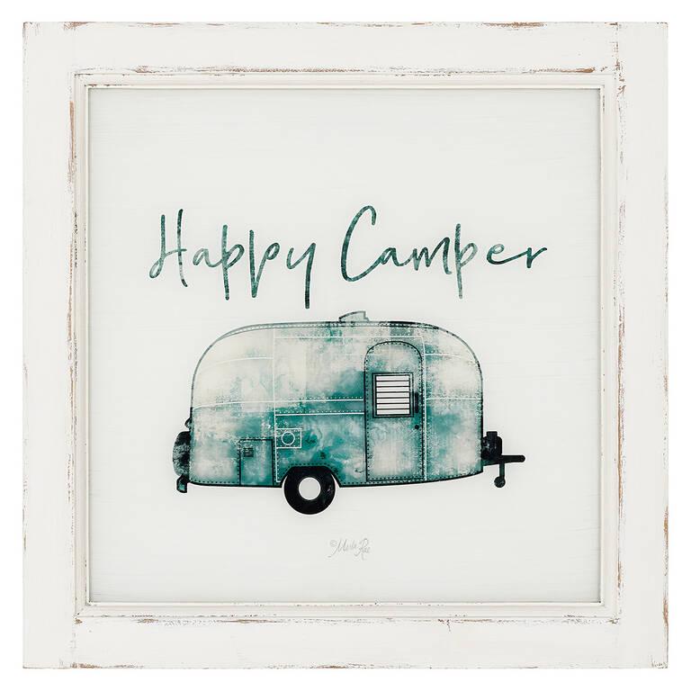 Happy Camper Wall Plaque
