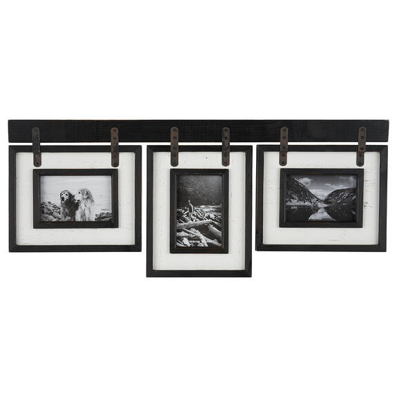 Cadres Ashworth 3-4x6 noirs/blancs