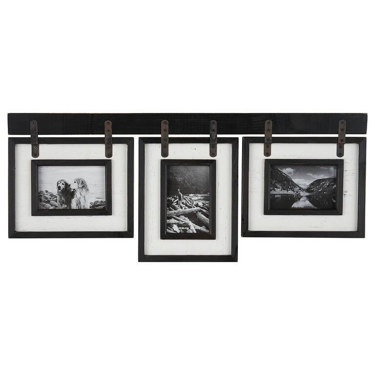 Ashworth Frame 3-4x6 Black/White