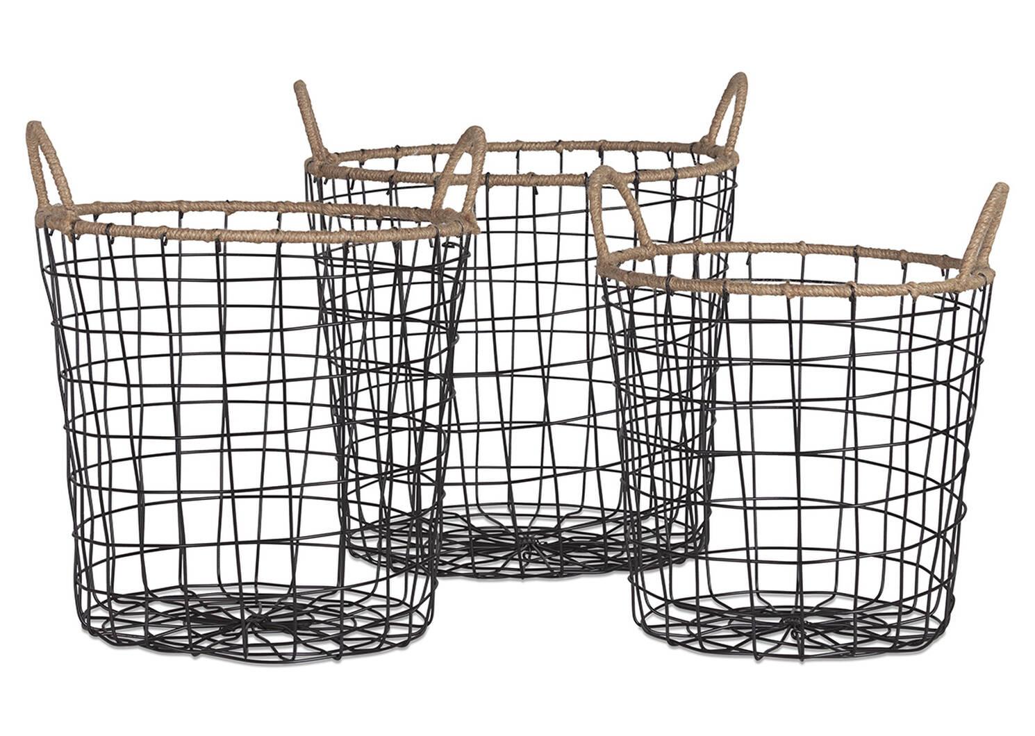 Jackman Wire Basket Large Natural/Black