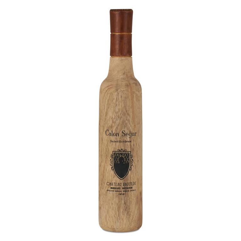 Bordeaux Wine Bottle Decor Small