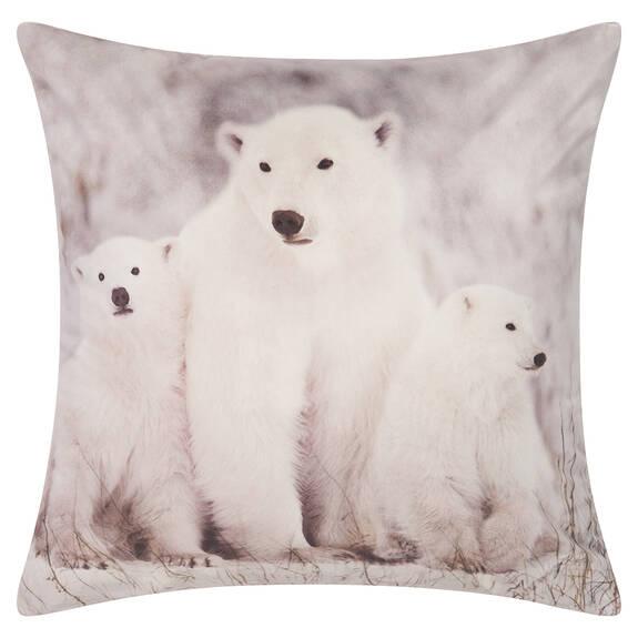 Polar Bear Family Toss 20x20 White