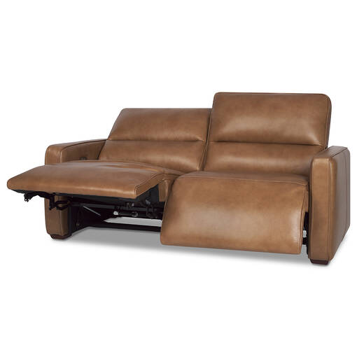 Encore Leather Reclining Sofa -Mira Rum