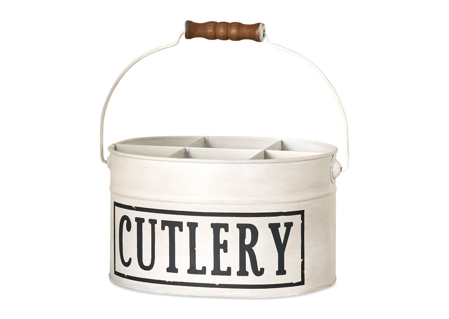 Cutlery Organizer White