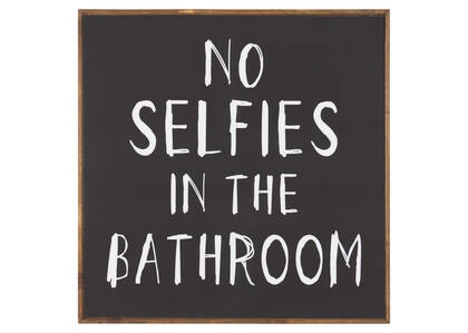Déco murale No Selfies