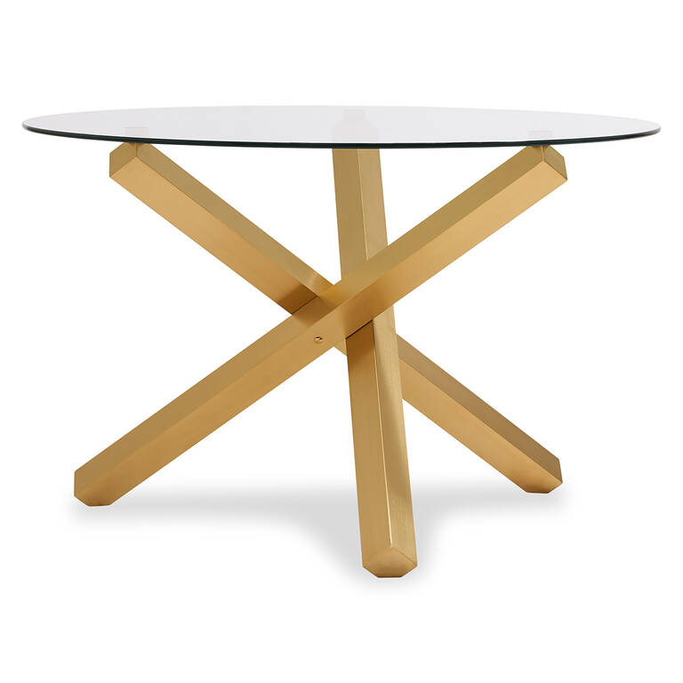 Maverick Dining Table -Matte Brass