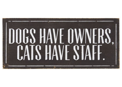 Dogs & Cats Wall Plaque