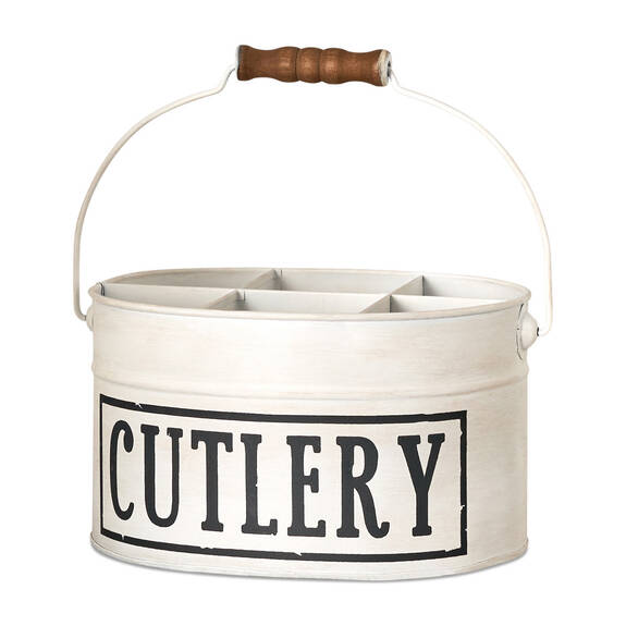 Seau pour couverts Cutlery blanc