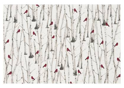 Cardinal Placemat Stone/Red