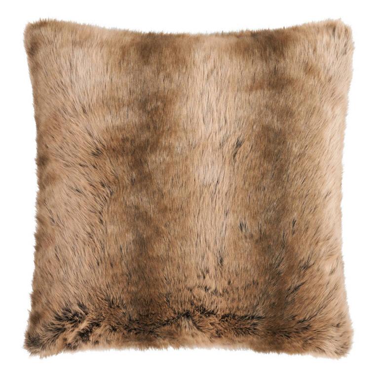 Fauna Faux Fur Toss 24x24 Sable