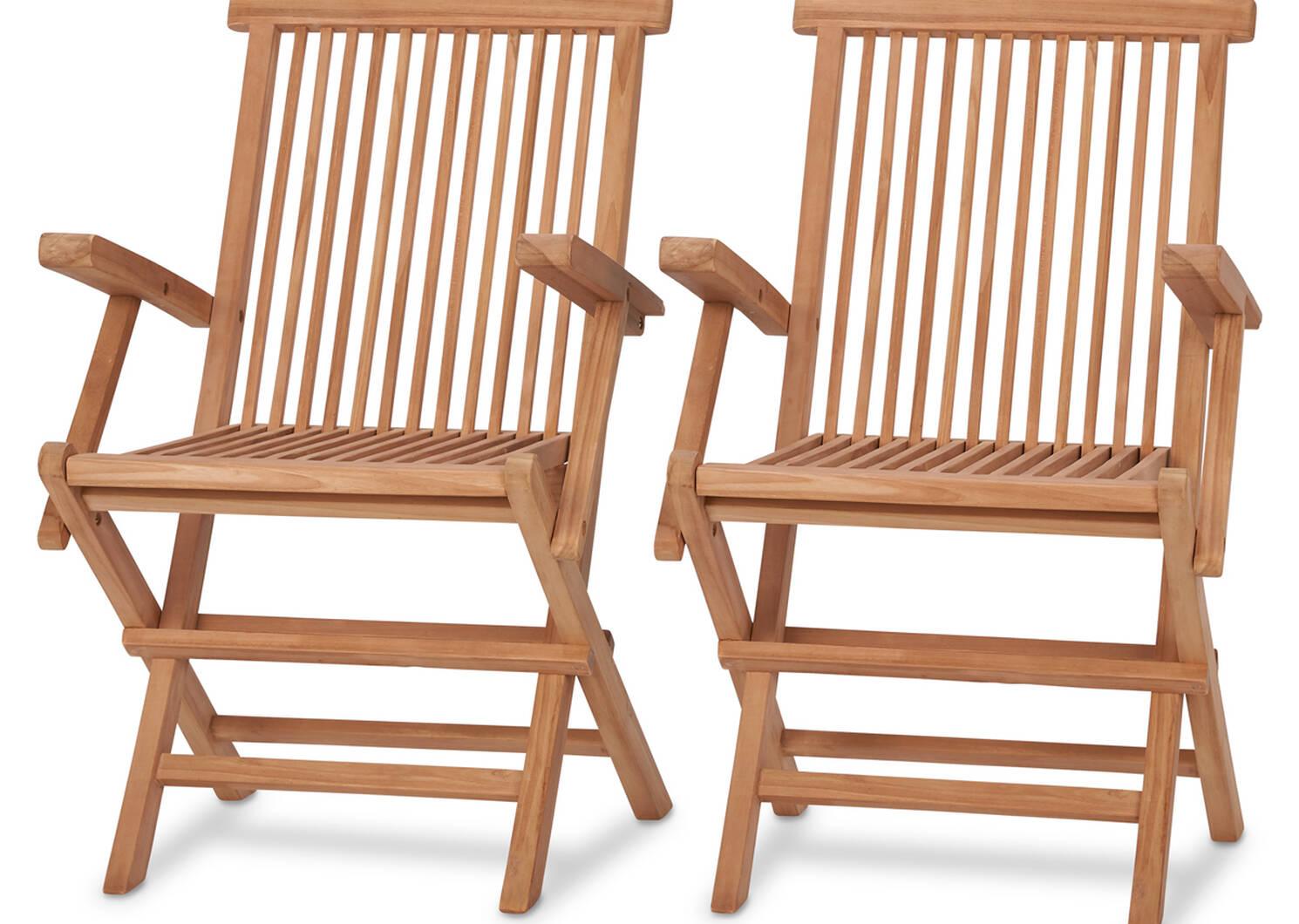 Galiano Arm Chairs S/2 -Teak Natural