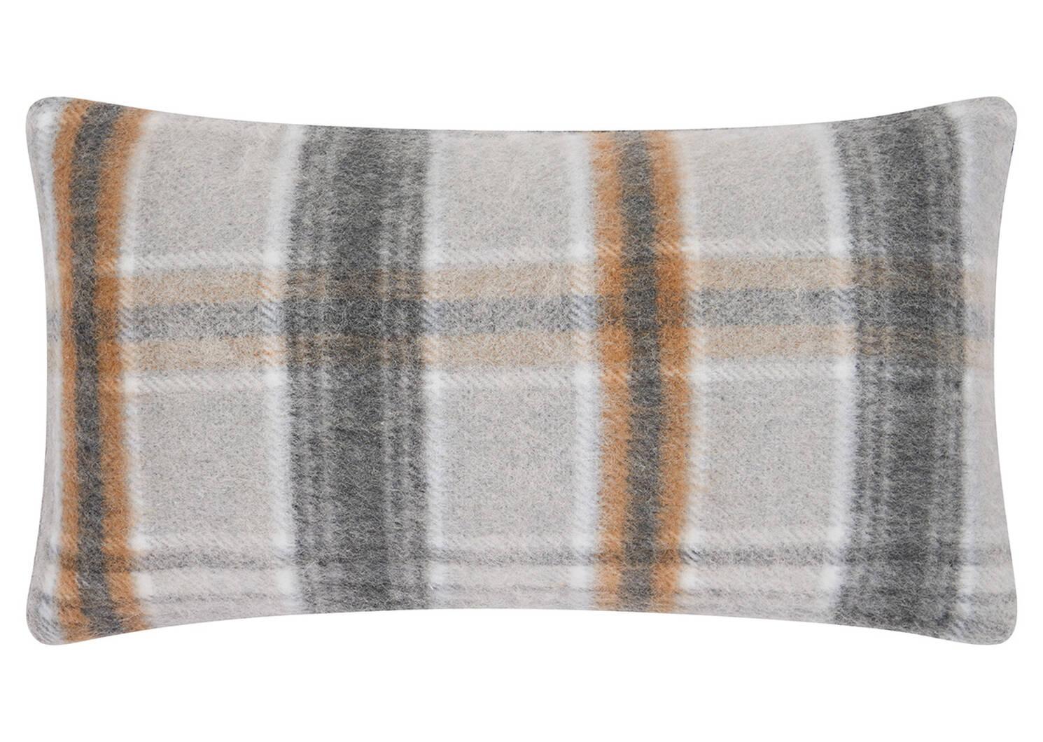 Iain Plaid Toss 12x22 Grey/Caramel
