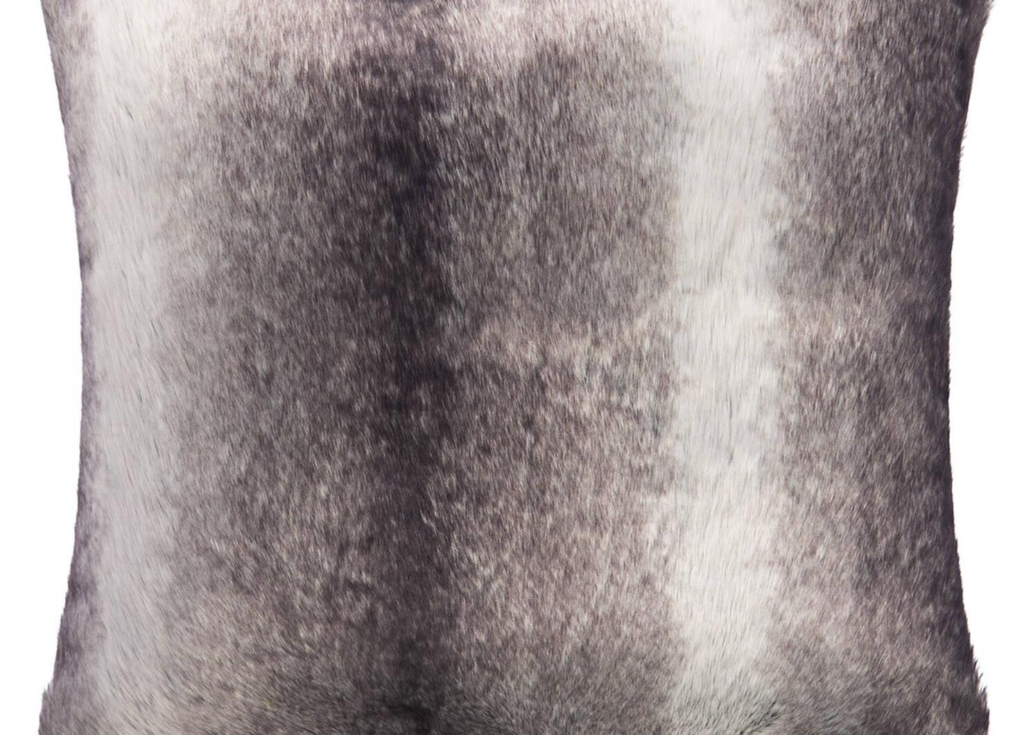 Coussin f. fourr. Haven 24x24 loup gris