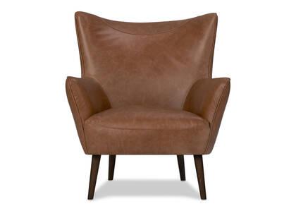 Fauteuil cuir Diablo -Harrod brun clair