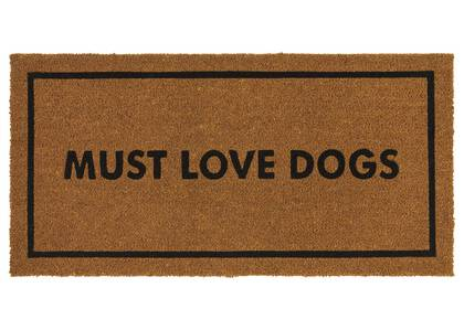 Must Love Dogs Doormat Natural