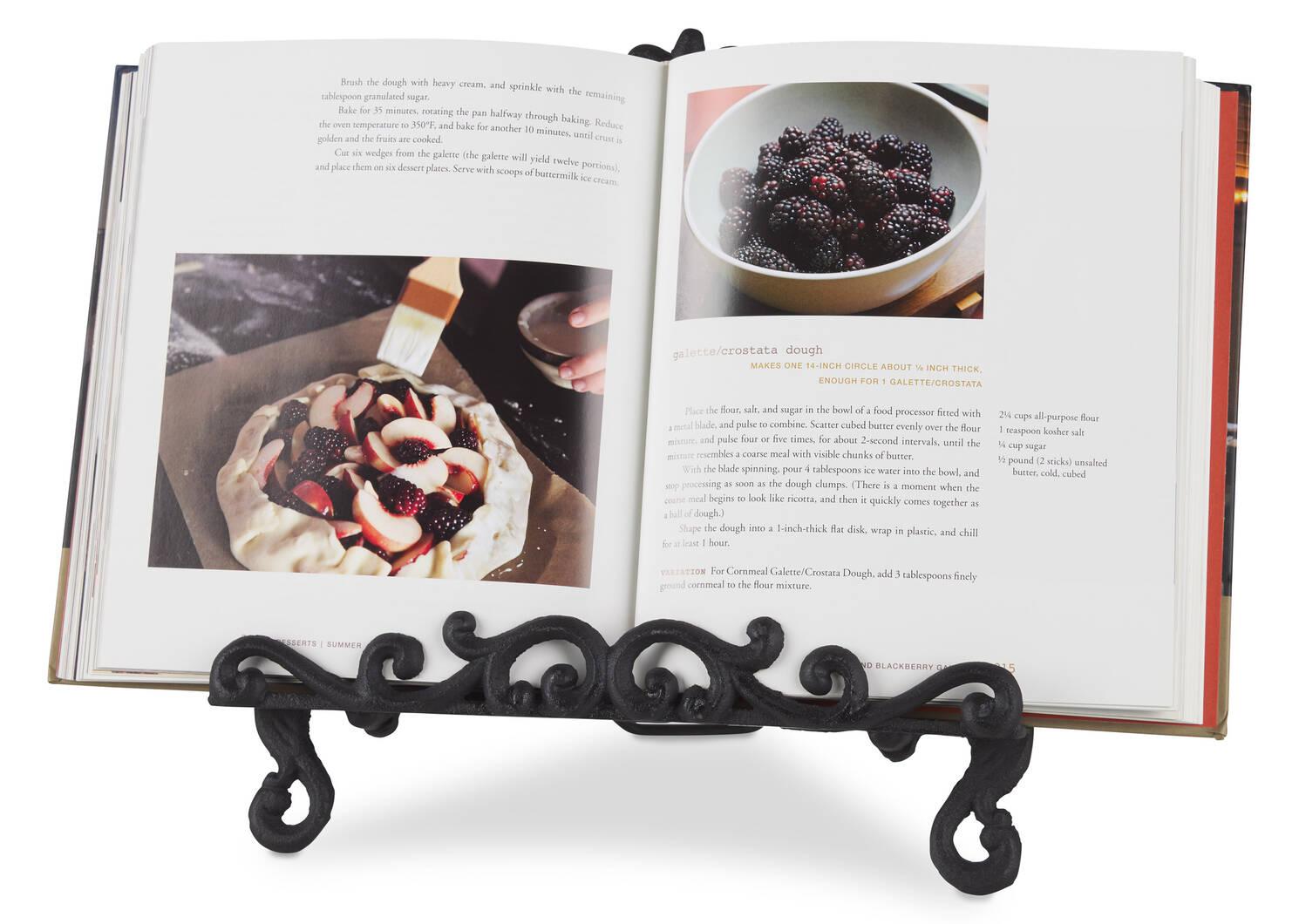 Support à livre de cuisine Olivia noir