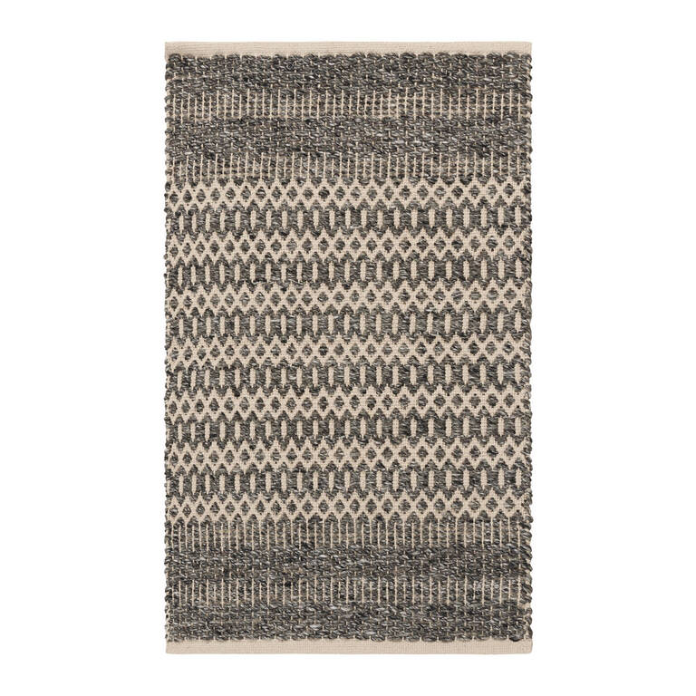 Dev Accent Rug 24x36 Charcoal