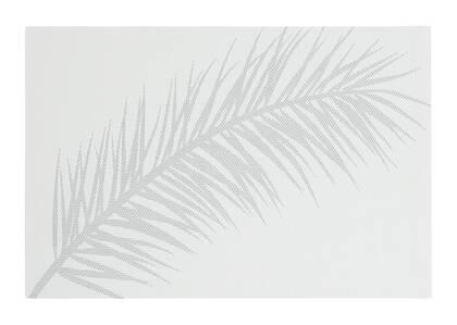 Napperon Plume blanc/argenté
