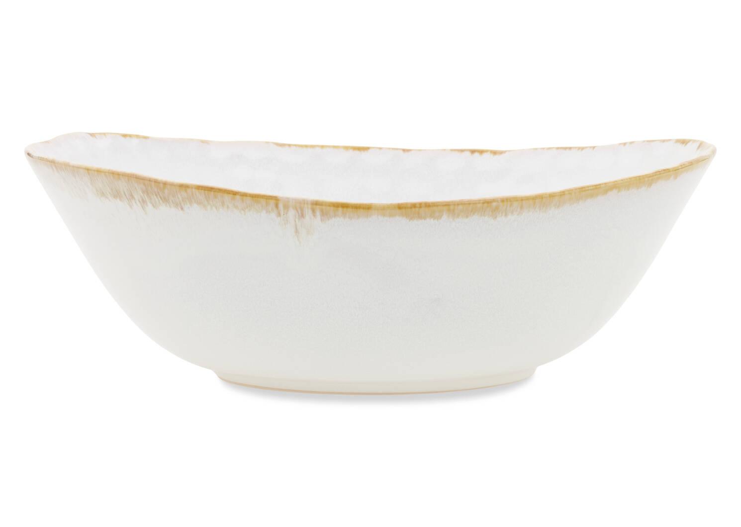 Bol de service avec glacis Crofton blanc