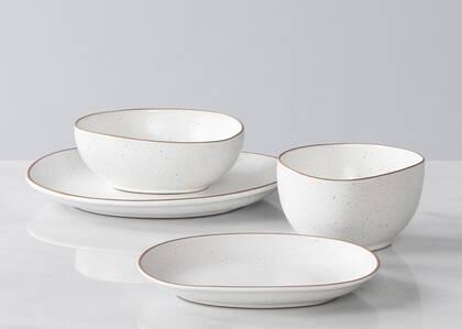 Nara 16pc Dish Set White