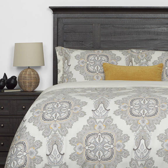 Paisley Duvet Set Queen Goldfield/Faw