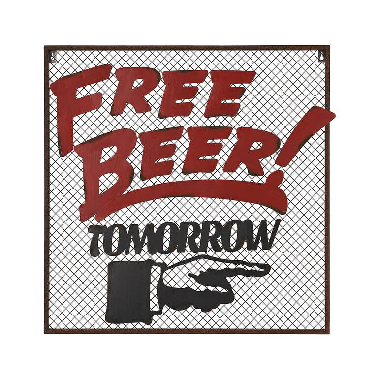 Free Beer Wall Plaque