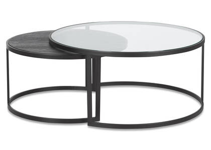 Madera Nesting Coffee Table Set -OakNoir
