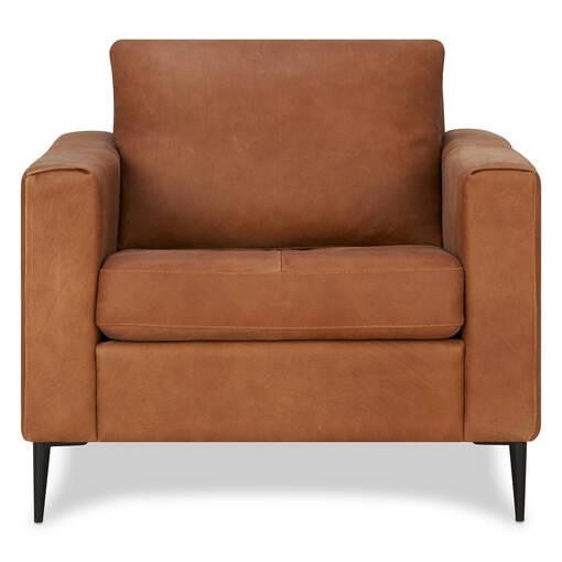 Lucca Leather Armchair -Attica Cinnamon