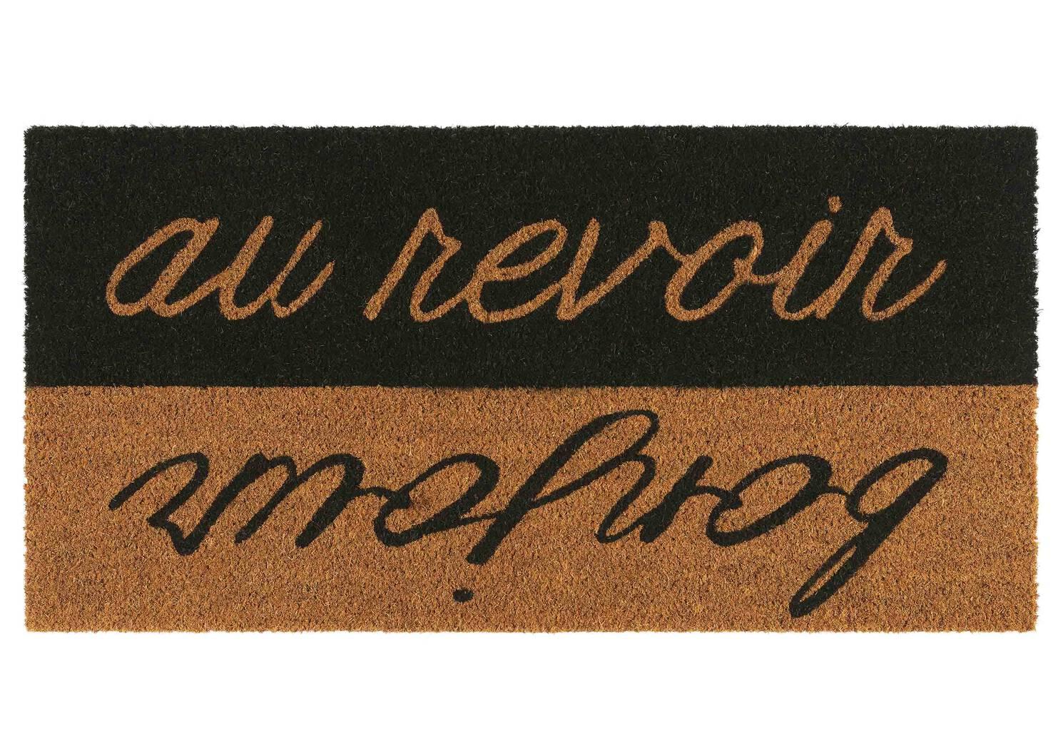 Bonjour Au Revoir Doormat Grey/Natura