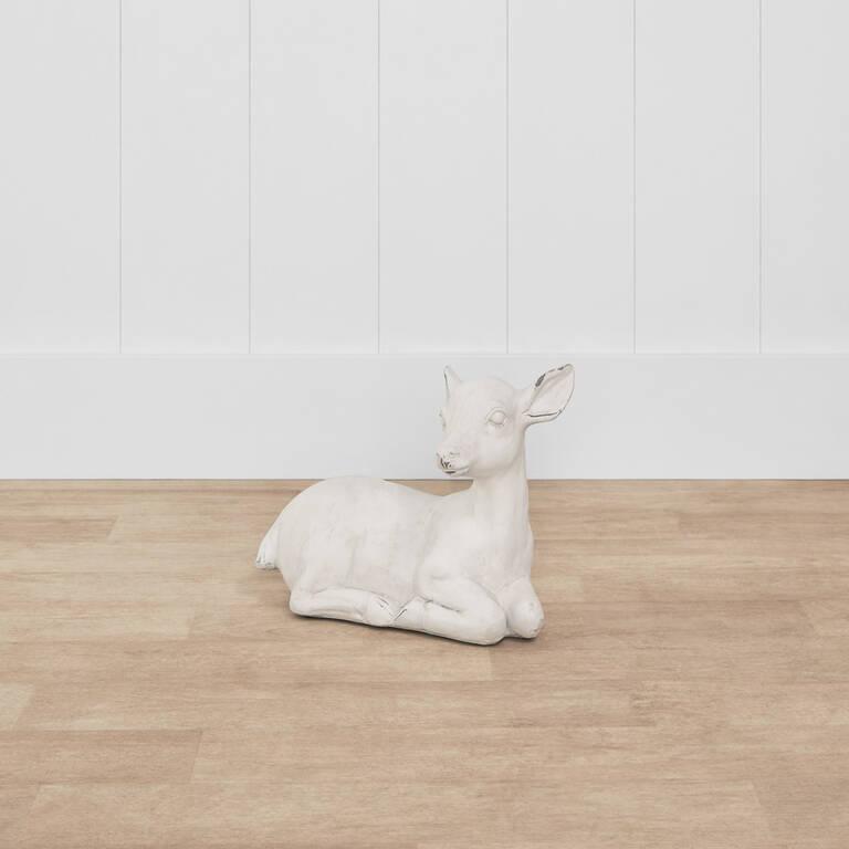Chevreuil décoratif Dalton blanc