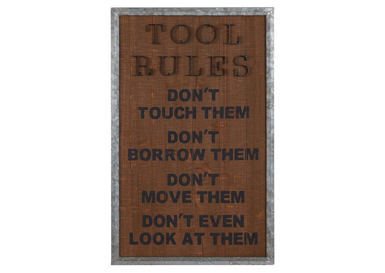 Tool Rules Wall Plaque