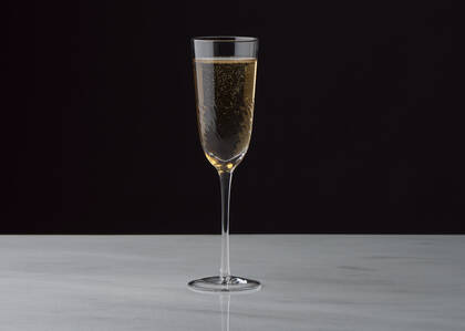 Flûte à champagne Bella transparente