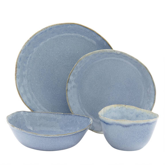 Crofton 16pc Dish Set Blue