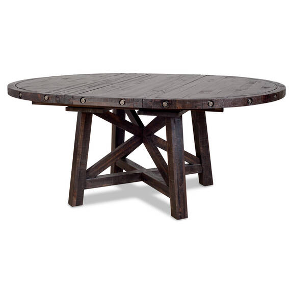 Ironside Ext Dining Table Rnd -Café