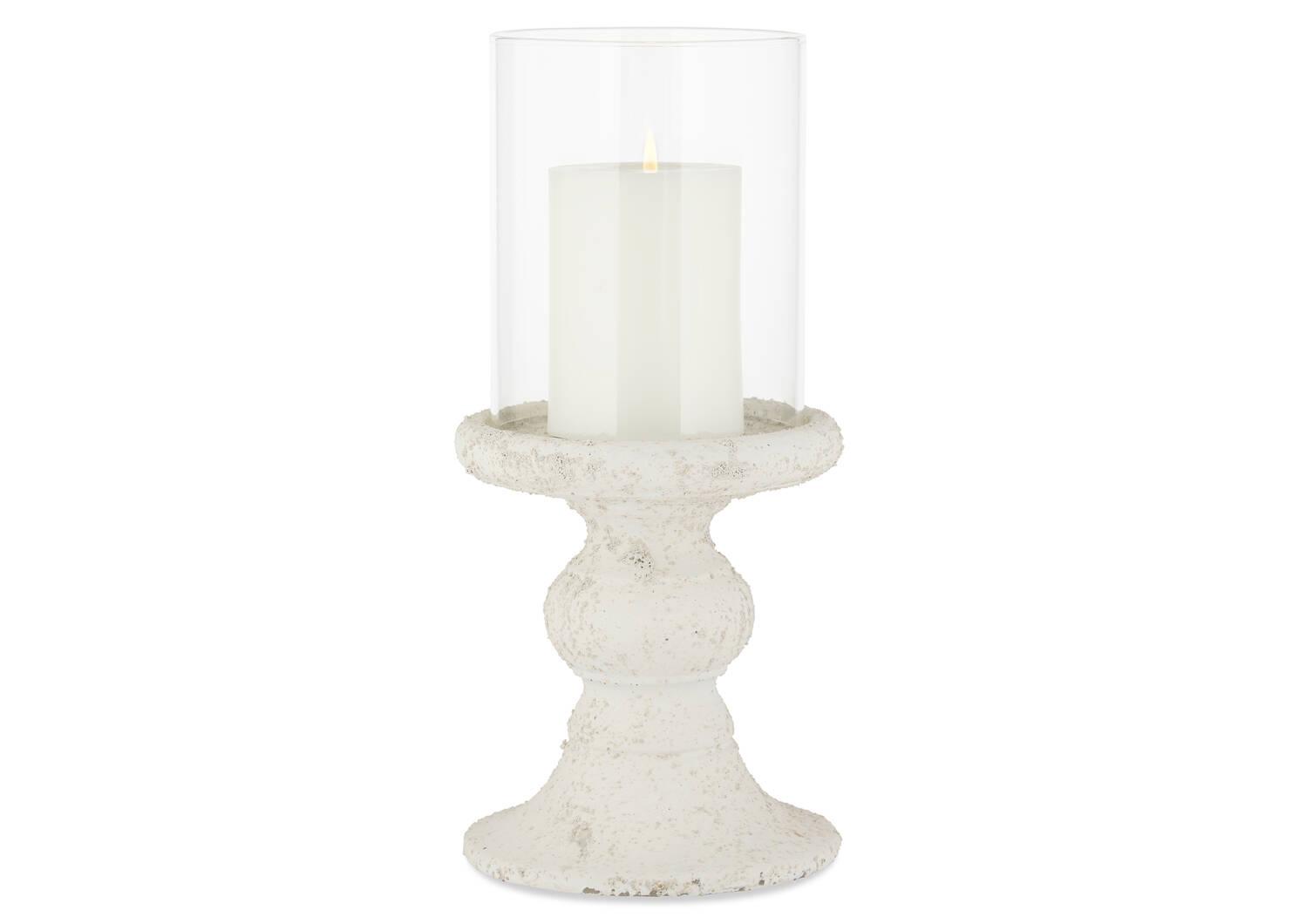 Larisa Candle Holder White