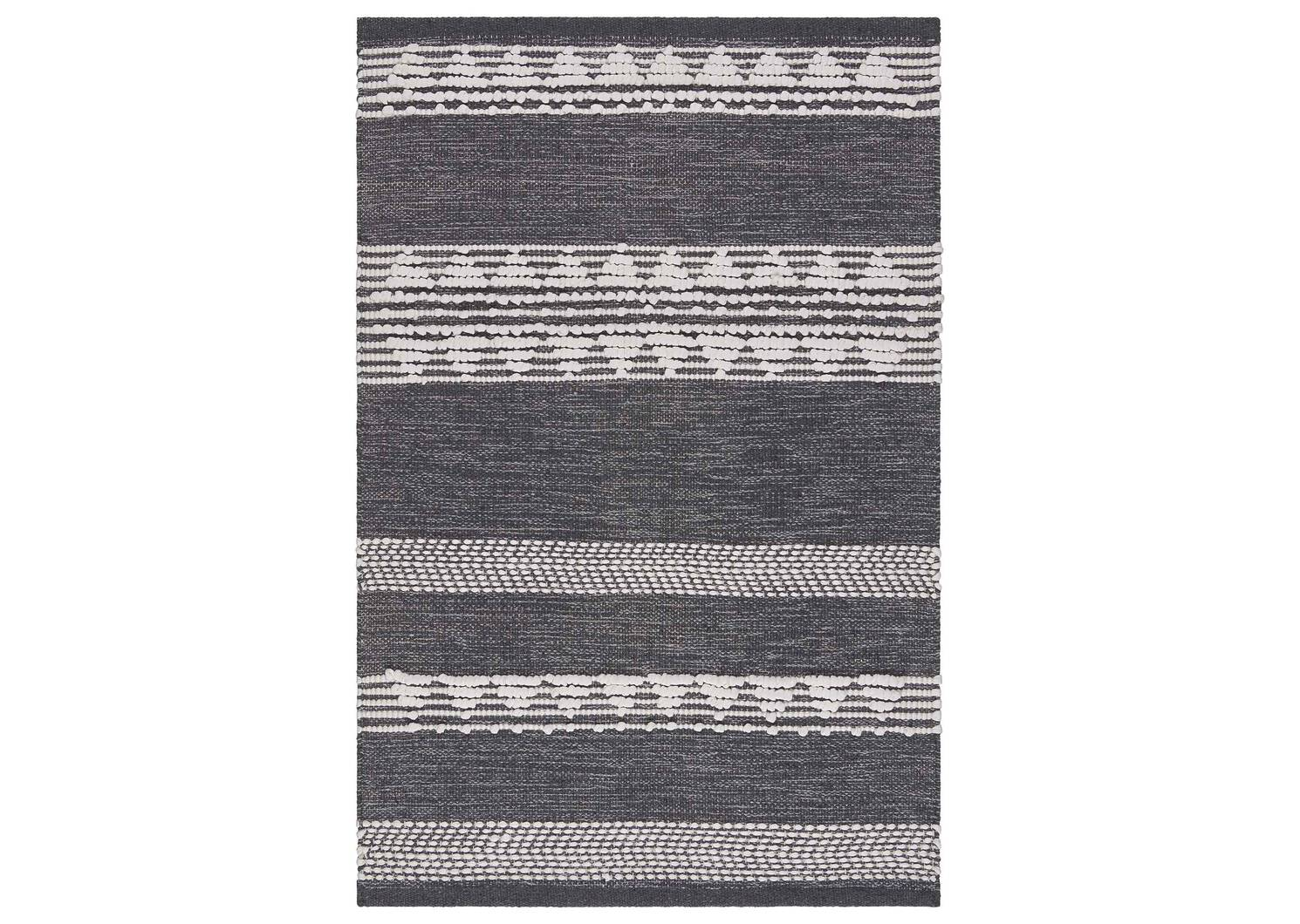 Tapis décoratif Sumner 24x36 gris/blanc