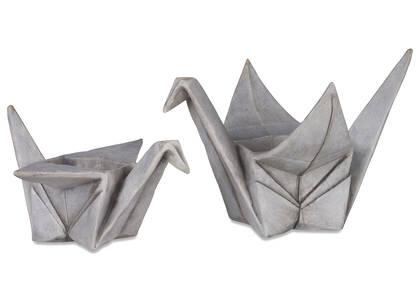Cache-pots Orizuru grises