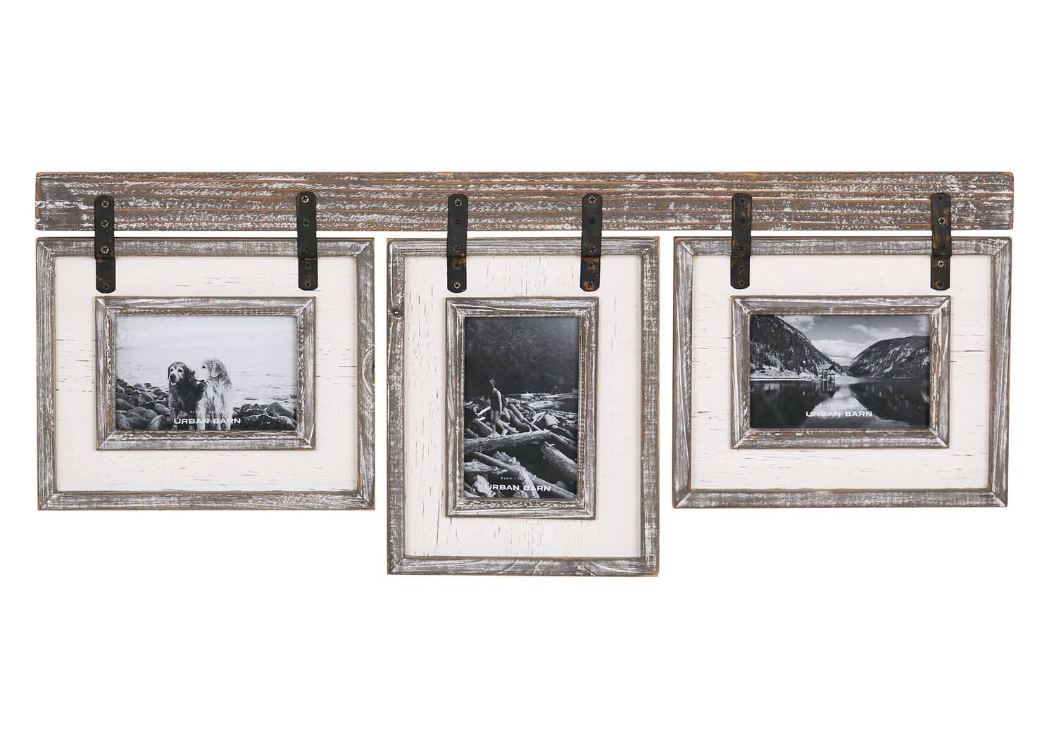 Cadres Ashworth 3-4x6 gris/blancs