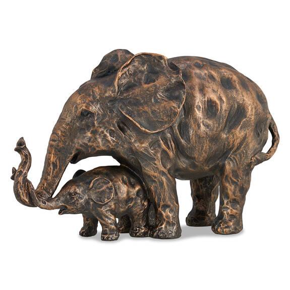 Mother Elephant Sculpture Antique Brass