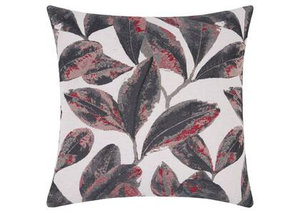 Coussin feuille Myriad 20x20 rge/gr/rose
