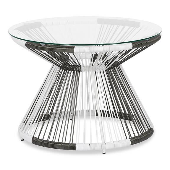 Table d'appoint Porto -blanche/grise
