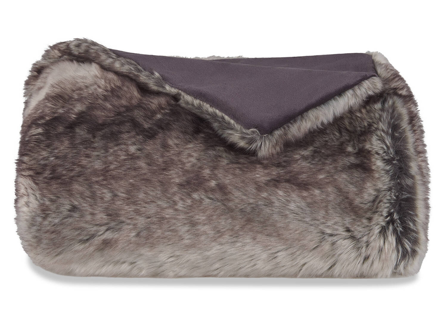 Haven Faux Fur Throw Grey Wolf