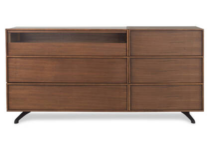 Tanner 6 Drawer Dresser -Archie Walnut